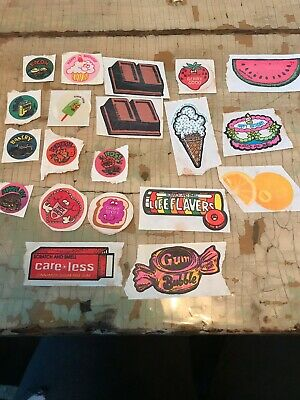 Lot Of 20 80's Vintage Scratch And Sniff Stickers