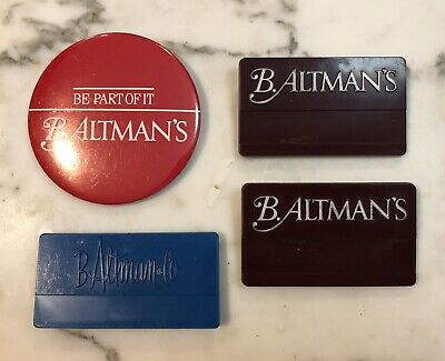 B. Altman & Co. Employee Name Tags Pin Back Button NYC Retailer