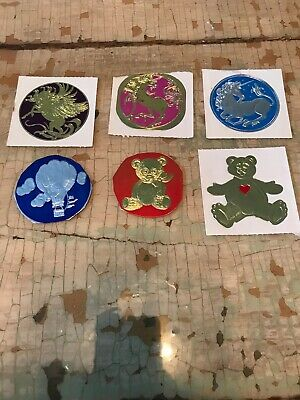 Vintage 80's Illumination Stickers, Foil Embossed Lot Of 6