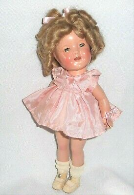"Vintage Shirley Temple Composition Doll 11"" Sleepy Eyes"