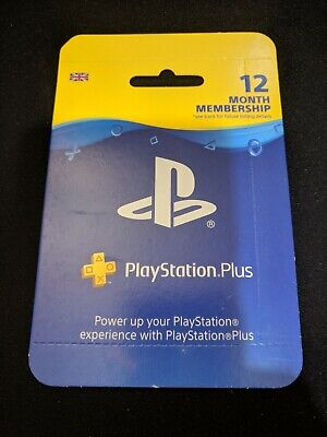Sony PlayStation Plus 12 Month Membership (Sealed UK Retail Subscription Card)