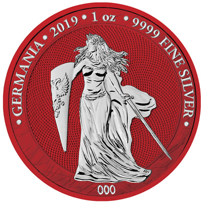 Germania 2019 5 Mark Germania Space Red 1 Oz 9999 Silver 500pcs only