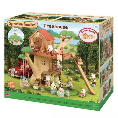 Sylvanian Families Treehouse, Bunk Beds, Whale Slide And Baby Play Pen