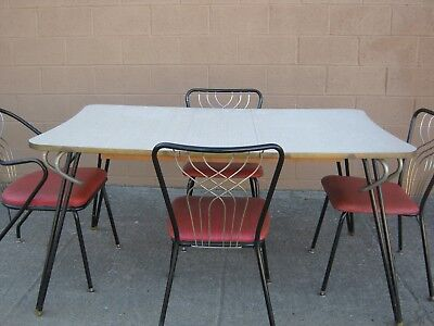 1950's Table & Chairs Set w/ 6 Chairs
