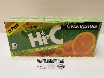 Hi-C Ecto Cooler Ghostbusters 2017 new sealed 10 pack (10 Juice Boxes)