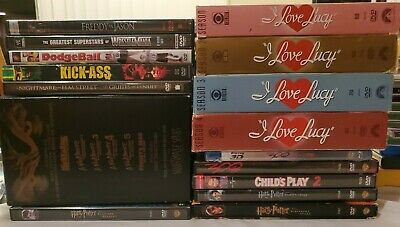 Lot 16 Dvds Movies TV shows - I Love Lucy Nightmare on Elm Street Harry Potter