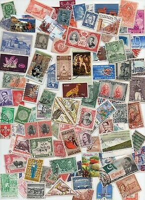 All WORLD MIxture- 1000 Stamps - Off paper - All Different ( lot 145)