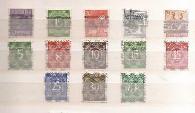 DEUTSCHLAND ( GERMANY ) -   OCCUPIED BY USA  -  OVERPRINTS  a + b
