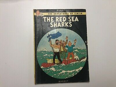Vintage Tintin, The Red Sea Sharks, Herve, 1979 Magnet comic book