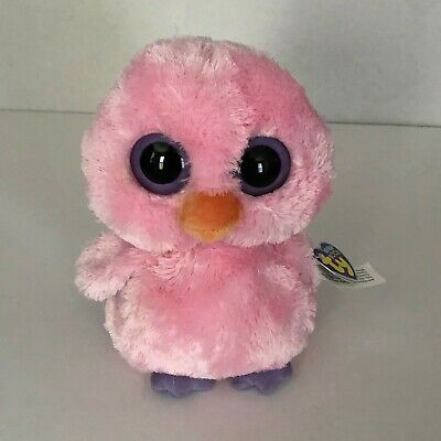 NEW Ty Beanie Boos Plush Pink Posy the Chick Medium 9 inches