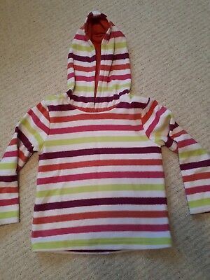 Girls Fleece Hooded Jumper Hoodie TU Clothing 3 yrs Pink Purple Stripe