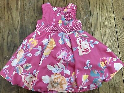 ❤️Lovely Baby Girls Monsoon Pretty Floral Summer Dress Outfit Size 3-6 Months ❤️