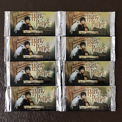 Harry Potter And The Sorcerer's Stone Movie Trading Cards - Factory Sealed x 8