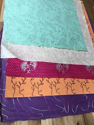 Handmade Indian Lokta Papers 5 Large Sheets Mixed Media Collage Papercrafts