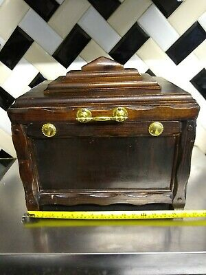VINTAGE HEAVY WELL MADE Human Casket Urn for Ashes brass handle