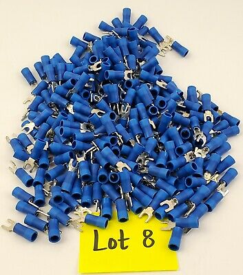 Lot of 300 Thomas & Betts 16-14 AWG Insulated Crimp Fork Lugs