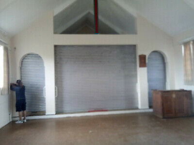 Galvanised Steel Roller Shutters - Electric operation x3