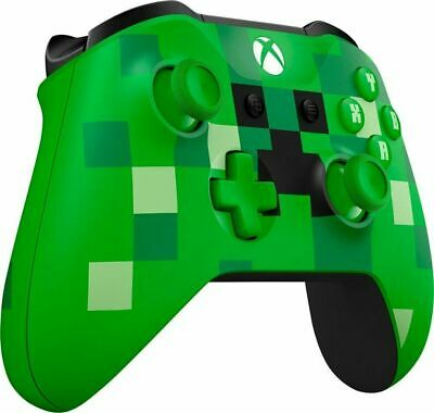 Xbox One Bluetooth Wireless Controller/ Minecraft Creeper WL3-00056 Brown box