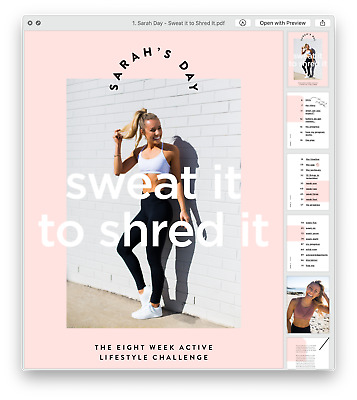 💓 Sarah's Day 💓 Sweat It To Shred It 💓
