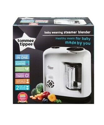 Baby Food Steamer Processor Blender White Tommee Tippee Explora Automatic Timer