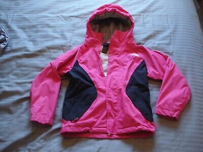 1 X Girl's Pink & Grey Tri-Climate 3 In One North Face Jacket Age 8-10 Vgc Used