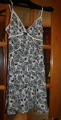 Gap Body  womens  small black/cream floral sleep chemise/slip  MSRP 34.99   NWT
