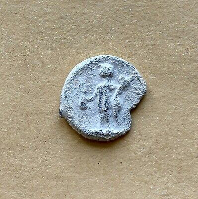 A roman period nice lead tessera with two mythological persons (ca 1st-3rd cent)