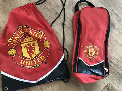 Manchester United Draw String Bag And Football Boot Bag Set
