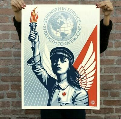 Obey Giant Angel of Hope & Strength Print Signed Fairey Essential Worker Nurse