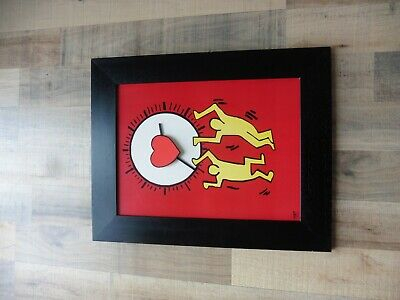 Hommage an Keith Haring Uhr 204 S 2 Art. Nr. 664278 ca. 40 x 50 cm