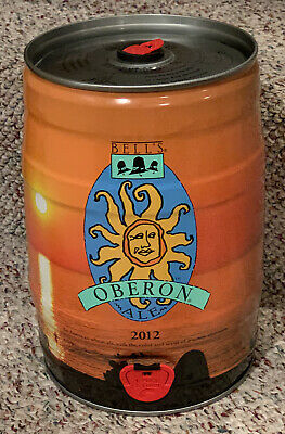 2012 Bell's Brewing Oberon Ale Empty Mini keg 1.32 Gallons