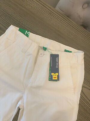 Boys White United Colours Of Benetton Trousers Age 7-8