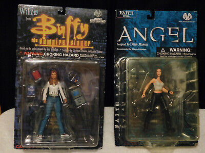 Buffy the Vampire Slayer Moore Figure Lot (Willow & Faith)
