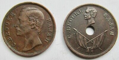 Sarawak 1889 and 1896 Copper One Cents