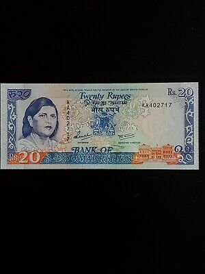 1985 Mauritius Bank note 20 Rupees