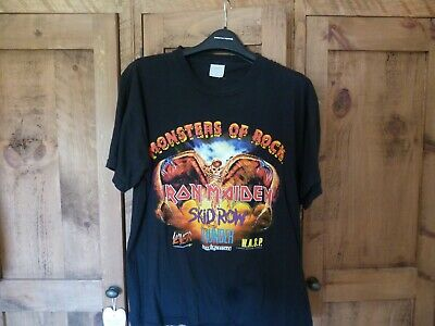Rare Iron Maiden Monsters Of Rock 1992 T-Shirt .. Large