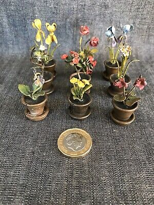 Coal Painted Bronze Vintage Place Setting Holders