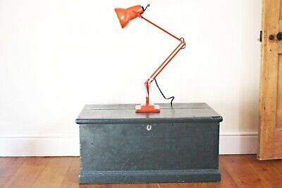Vintage Herbert Terry 1227 Anglepoise Lamp in red