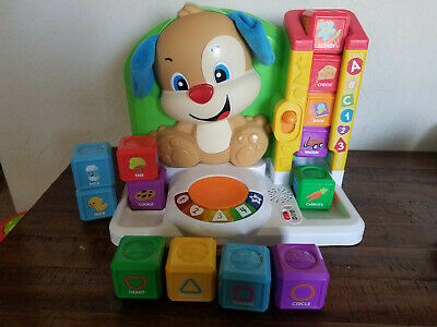 Fisher Price Laugh and Learn First Words Smart Puppy with Extra Blocks