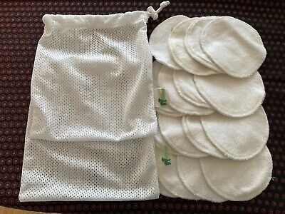 16 reusable washable breast pads together with 2 little lamb wash bags