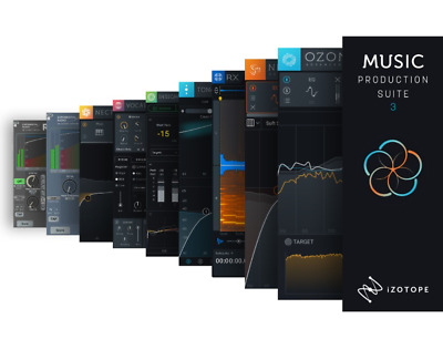 iZotope MUSIC PRODUCTION SUITE 3 🎼Ozone 9 Advanced Neutron 3 RX 7 Nectar 3⚡NEW