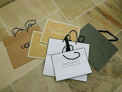 UGG, Michael Kors, All Saints & The White Company Carrier Bags 6 Bags