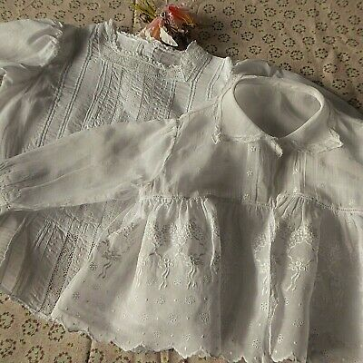 Exquisite Antique  Baby/Doll Top & Jacket Victorian/Edwardian -Hand Finished.