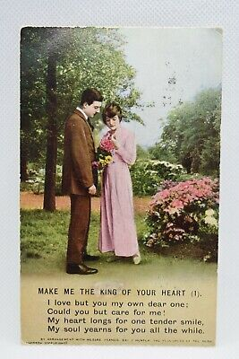 Bamforth Song Card Make Me The King Of Your Heart (1) Postcard. Holmfirth.