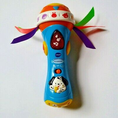 VTech Baby Babble and Rattle Microphone Blue Great Gift For Kids Toddlers Toys
