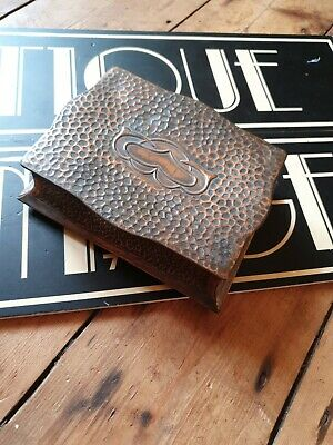 old Antique vintage Arts and Crafts metal copper box