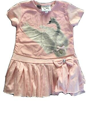 le chic 80cm 1 Year Pink Swan Dress