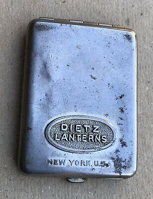 Vintage Rare Dietz Lanterns Match Book Holder In Nice Condition