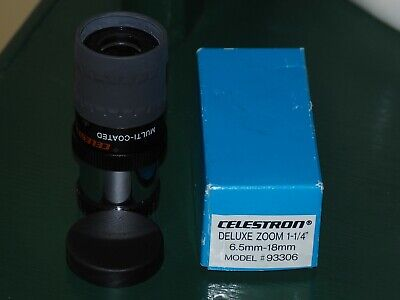 "Celestron Deluxe Zoom Eyepiece 1.25"" 6.5-18mm Made In Japan"