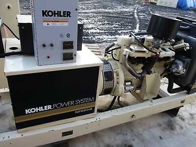 35 Kw Kohler Natural Gas Generator Load Bank Tested  With Transfer Switch